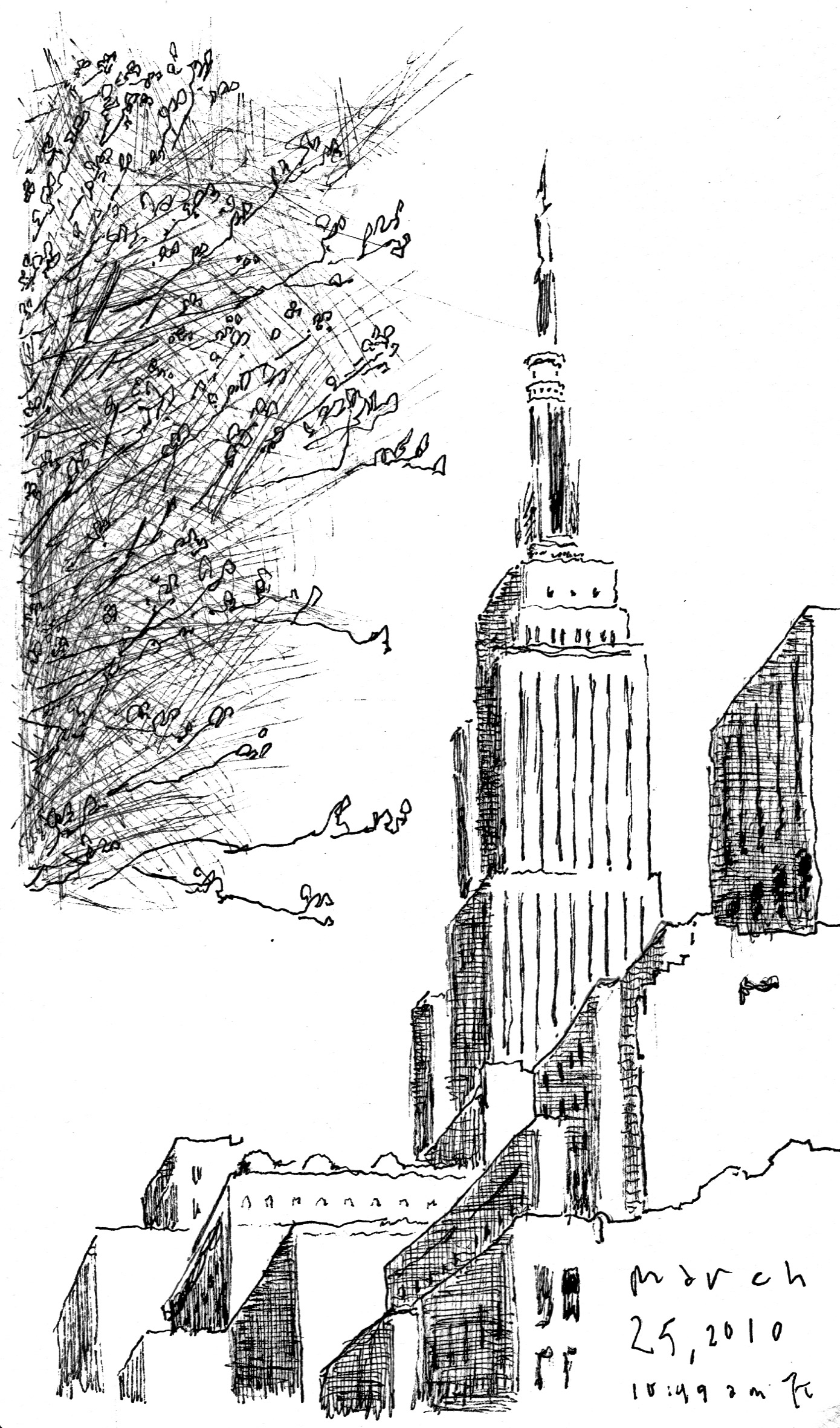 Line Drawing Nyc : Ink line shapes and spaces the sketchbook of kurt d