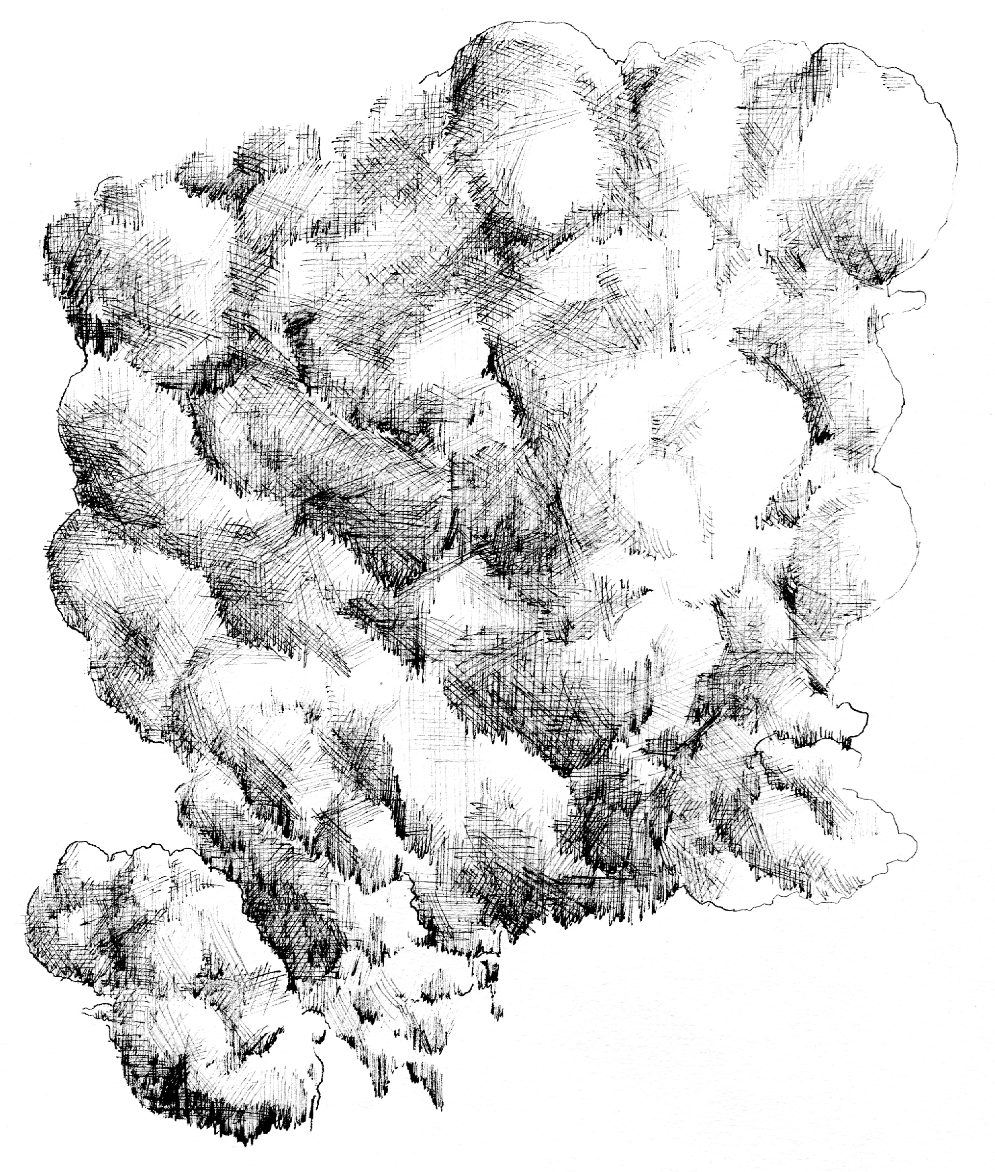 Line Art Clouds : Clouds shapes and spaces the sketchbook of kurt d